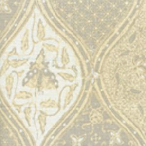 6630CU-10 BALINESE BATIK Grey Cream on White Quadrille Fabric