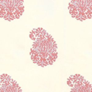 6040-04WP BANGALORE PAISLEY New Shrimp On Almost White Quadrille Wallpaper