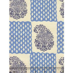 5090-02 BANGALORE New Blue Navy on Tint Quadrille Fabric