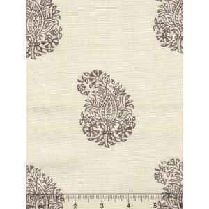 6040-03 BANGALORE PAISLEY Brown on Tint Quadrille Fabric