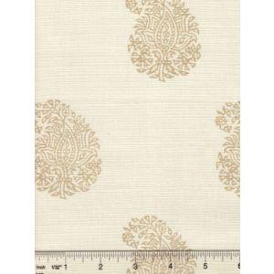 6040-06 BANGALORE PAISLEY Taupe on Tint Quadrille Fabric