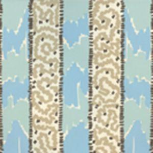 5060-03WP BIJOU STRIPE New Blue Brown Taupe Quadrille Wallpaper