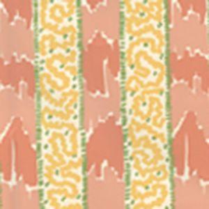 5060-05WP BIJOU STRIPE Melon Yellow Green Quadrille Wallpaper