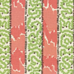 5060-02 BIJOU STRIPE Jungle Green New Shrimp Brown Quadrille Fabric