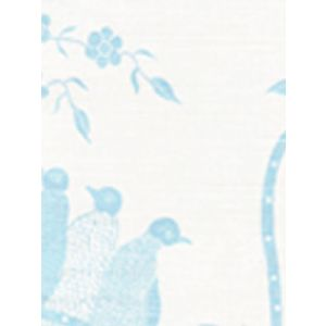 5050-02 BIRDS II New Blue on White Quadrille Fabric