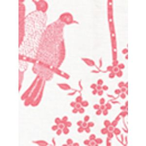 5050-05 BIRDS II Pink on White Quadrille Fabric