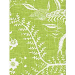 6780-02 CIREBON REVERSE Grass Green on White Quadrille Fabric