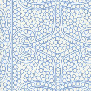 CP1000W-04 PERSIA New Blue On Almost White Quadrille Wallpaper