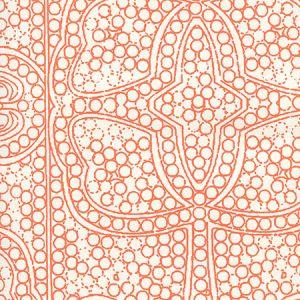 CP1000W-06 PERSIA Orange On Almost White Quadrille Wallpaper