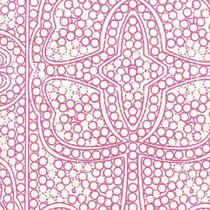 CP1000W-07 PERSIA Flamingo On Almost White Quadrille Wallpaper