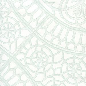 CP1030W-02 CAMELOT Pale Green On White Quadrille Wallpaper