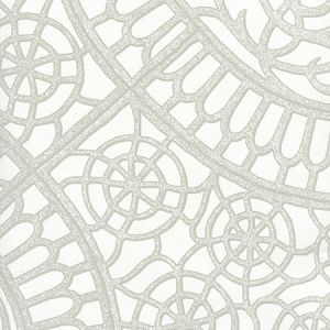 CP1030W-03 CAMELOT Grey On White Quadrille Wallpaper