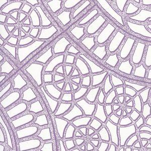 CP1030W-06 CAMELOT Purple On White Quadrille Wallpaper