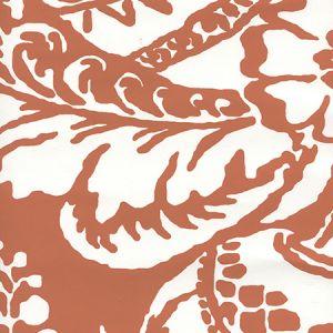 CP1040W-04 ANTOINETTE Burnt Orange On White Quadrille Wallpaper