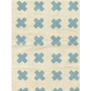 4130-01 CROSS CHECK New Blue on Tint Quadrille Fabric