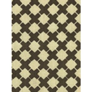 4125-06 DOUBLE CROSS ONE COLOR Brown on Tint Quadrille Fabric