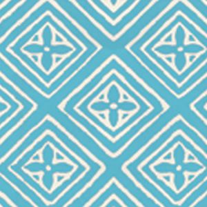 2490-09WP FIORENTINA Turquoise On Off White Quadrille Wallpaper
