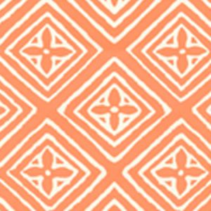 2490-24WP FIORENTINA Orange On Off White Quadrille Wallpaper