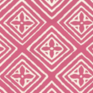 2490-51WP FIORENTINA Coral On Almost White Quadrille Wallpaper