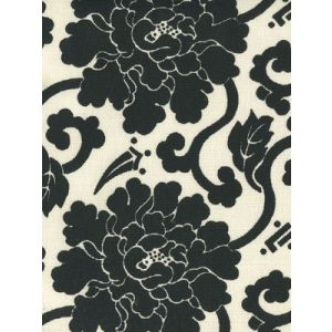 8230-10 FLORALS Black on Tint Quadrille Fabric