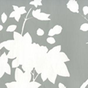306185W HAPPY GARDEN BACKGROUND Grey On White Quadrille Wallpaper