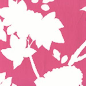 306187W HAPPY GARDEN BACKGROUND Magenta On White Quadrille Wallpaper