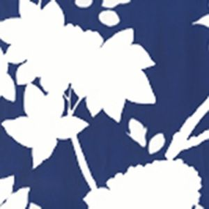 306188W HAPPY GARDEN BACKGROUND Navy On White Quadrille Wallpaper