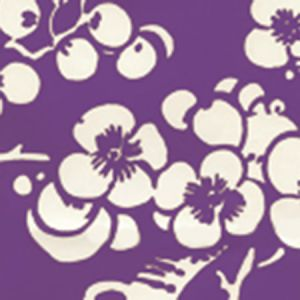 3015-13AWP HAWTHORNE REVERSE Purple On Almost White Quadrille Wallpaper