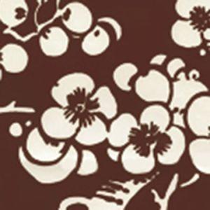 3015-31AWP HAWTHORNE REVERSE Brown On Almost White Quadrille Wallpaper