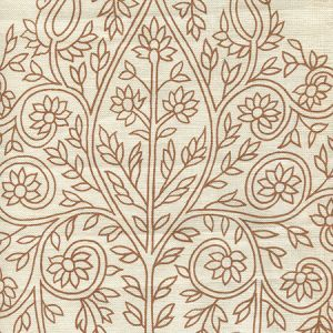 HC1480P-02WP TAJ New Tabacco On Off White Quadrille Wallpaper