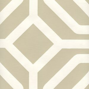 HC1520P-02 LABYRINTH Greige On Almost White Quadrille Wallpaper