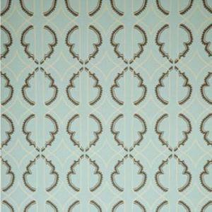 WV7LAN‐02 LANTERN Turquoise Clarence House Wallpaper