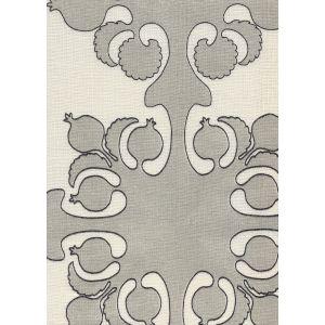 HC2000C-09 ARGENTINE Silver Charcoal on Ecru Quadrille Fabric