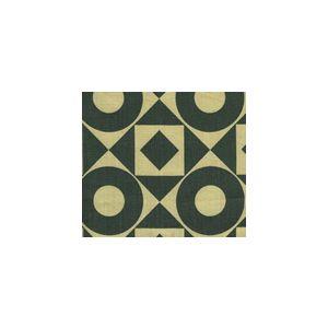 HC1370T-11 CIRCLES & SQUARES Charcoal on Tan Quadrille Fabric