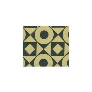 HC1400T-11 CIRCLES & SQUARES REVERSE Charcoal on Tan Quadrille Fabric