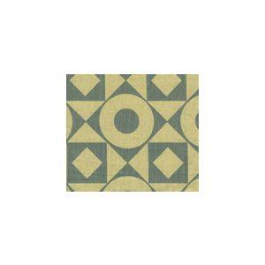 HC1370T-03 CIRCLES & SQUARES Vapor on Tan Quadrille Fabric