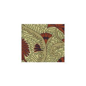 HC1270T-03 CONTESSA Multi Orange Eggplant Green Quadrille Fabric