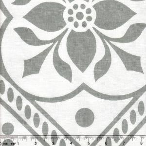 HC1460W-03 GLOUCHESTERSHIRE Gray on White Quadrille Fabric