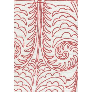 HC1230W-09 GYPSY DANCE Mauvey Red on Off White Quadrille Fabric