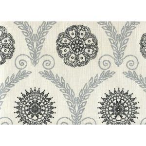 HC1310-08 JEANNE ALL OVER Silver Metallic Black Quadrille Fabric