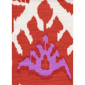 302833F KAZAK Orange Pink on Tint Quadrille Fabric
