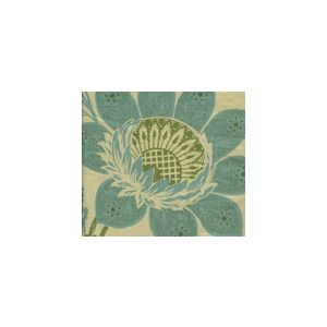 HC1260T-06 LORRAINE Turquoise Green on Tan Quadrille Fabric