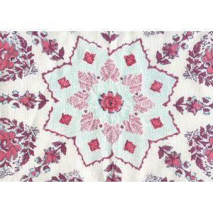 HC1490C-CSTTR PERSEPOLIS On Custom Ground Red Burgundy Purple Turquoise Quadrille Fabric