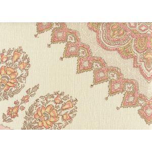 HC1490C-05 PERSEPOLIS Pink Taupe on Cream Linen Quadrille Fabric