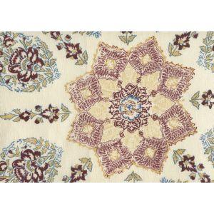 HC1490C-11 PERSEPOLIS Wine Blue on Cream Quadrille Fabric