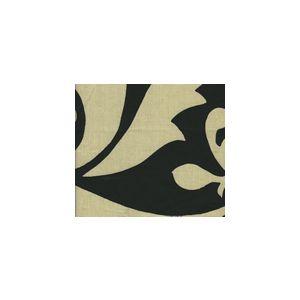 HC1202-CUST PRAGUE Black on Tan Quadrille Fabric