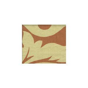 HC1202T-01 PRAGUE Salmon on Tan Quadrille Fabric