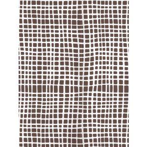 AP403-11PV CRISS CROSS Brown On White Vinyl Quadrille Wallpaper