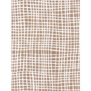 AP403-04PV CRISS CROSS Camel Ii On White Vinyl Quadrille Wallpaper