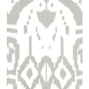 6460-16WP ISLAND IKAT Gray On White Quadrille Wallpaper